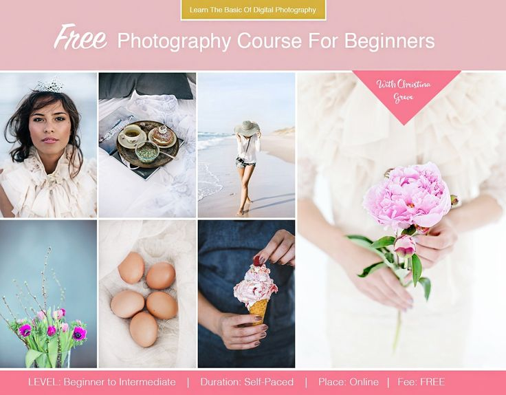 FREE Photography Course For Beginners I like this blogger & her tips. Her photos are amazing. What I want to achieve.