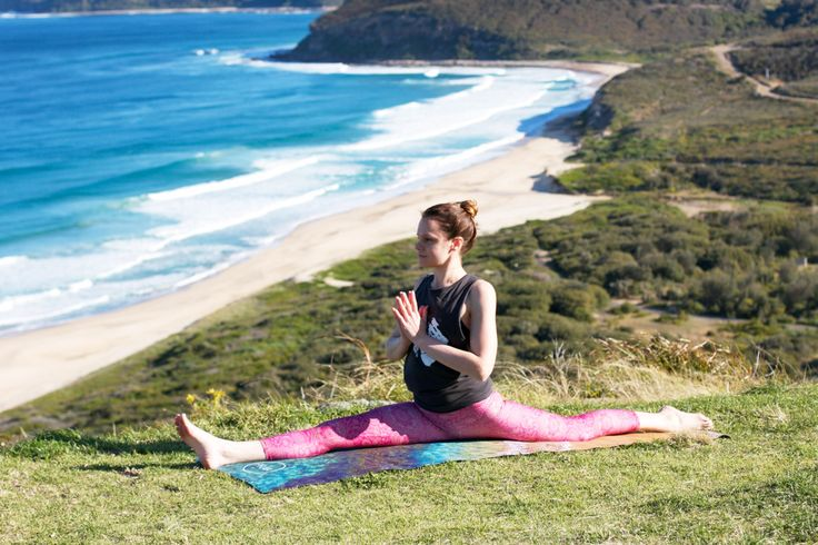 The talented @catmeadyoga on our OCEAN RAINBOW Natural Rubber yoga mat! In store now on our website www.praia.com.au   #namaste #yoga #health #fitness #wellbeing