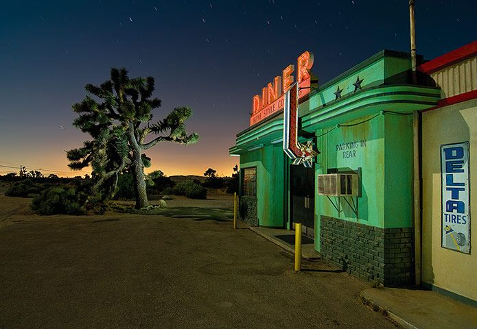 Diner movie set in Lake Los Angeles, California. June 2011. Photo Credit: Noel Kerns