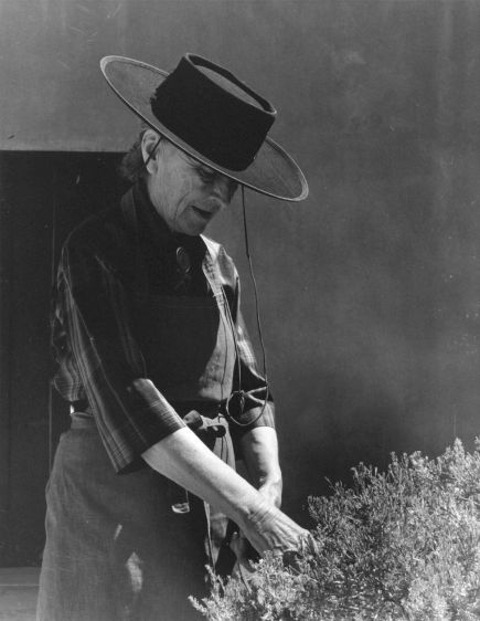 O'Keeffe in Patio, Abiquiu House, New Mexico, 1963   O'Keeffe and the West   Todd Webb