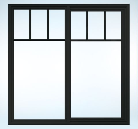 Jeld Wen Vinyl Sliding Widows Top Down Grille Chestnut