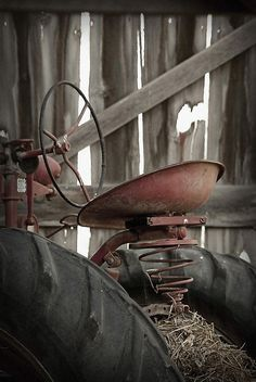Rusty Old Tractor in a Barn ....