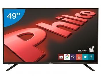 "Smart TV LED 49"" Philco PH49U21DSGW - Conversor Digital 3 HDMI 2 USB"