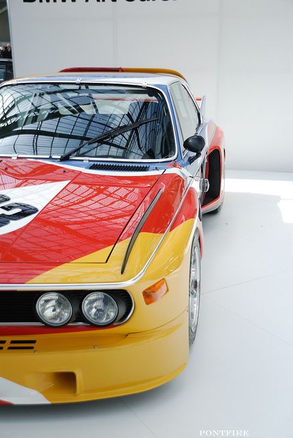 1975 BMW 3.0 painted by Alexandre Calder.    Photo: by pontfire on Flickr.