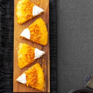 Candy Corn Quesadillas Recipe from Taste of Home