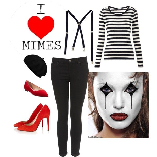 #DIY #MIME #halloween #costume idea by #ManoyMetal    Check-out the 5 last minute DIY costume ideas on the blog! http://manoymetal.blogspot.com/2013/10/ladies-5-last-minute-diy-halloween.html