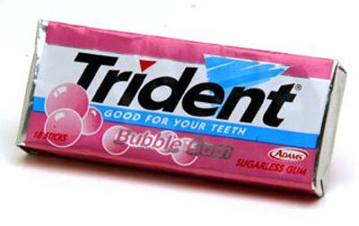 Trident gum= mythological trident from Neptune