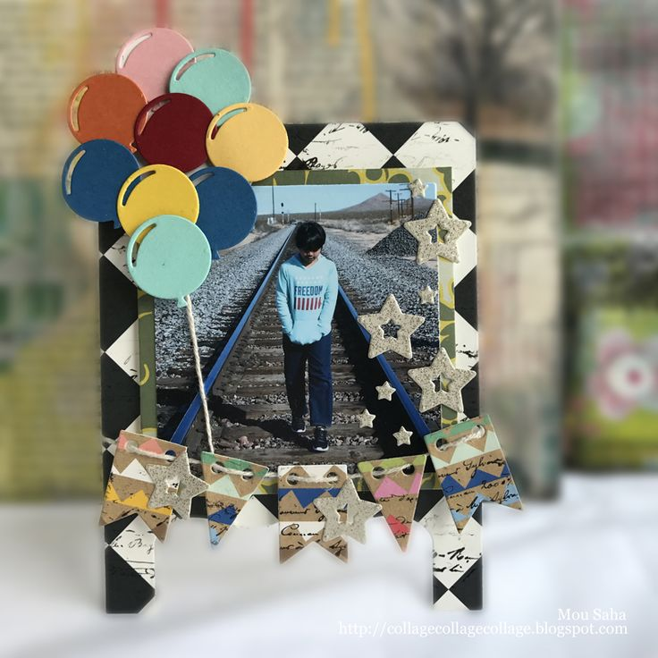 A DIY Easel Frame to showcase a special vacation photo created by Mou Saha using Lori Whitlock dies for Sizzix