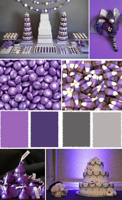 Purple and grey colors wedding ideas pinterest - Purple and silver color scheme ...