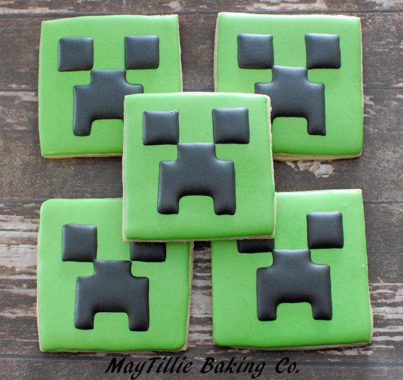 Mine craft cookies-1dozen
