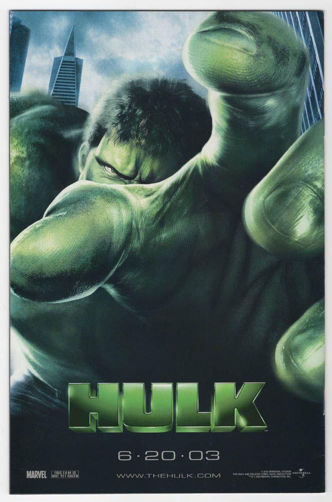Throw Back Thursday Comic Book Ad - Hulk Movie 2003