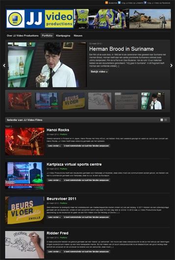 Website jjvideo.nl voor Jacco van Dijk van JJ Video. Share via Vimeo.