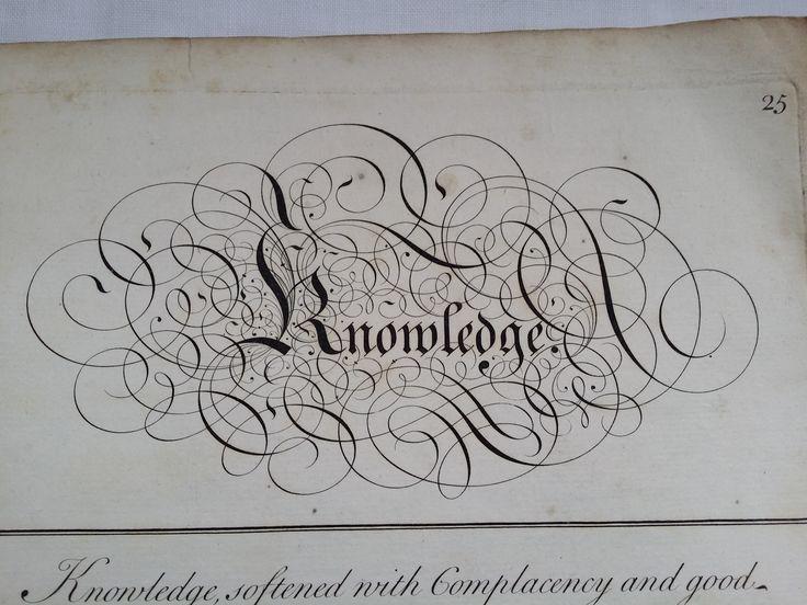 From George Bickham's 1734 universal Penman