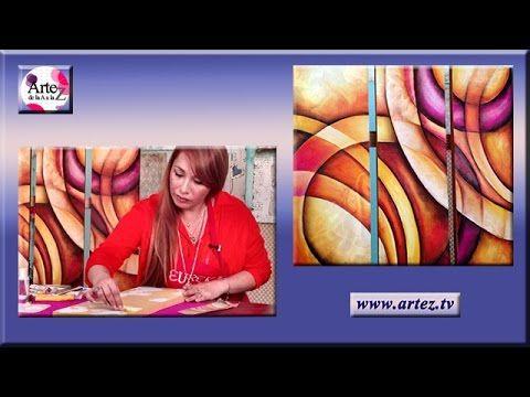 Triptico con textura en Pastel Tiza - YouTube