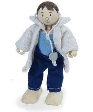 MUÑECO ARTICULADO BUDKIN MÉDICO Bonito muñeco de madera articulado. Es un médico con fonendoscopio incluido, para atender a las urgencias que surjan. Tenemos ambulancias y centros de emergencias para complementar. Sin tintes tóxicos. Altura aprox: 10cm. PVP: 8.95 € #medicodejuguete #juegosdemedico http://www.babycaprichos.com/muneco-articulado-budkin-medico.html