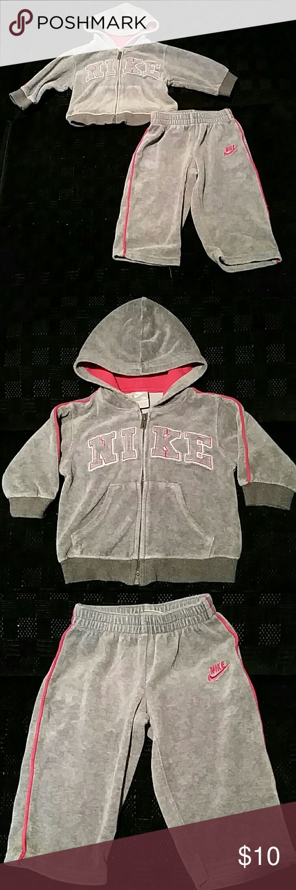 Nike Sweat Suit for Baby Boy Grey & Red Nike Sweat Suit for Baby Boy Nike  Matching Sets