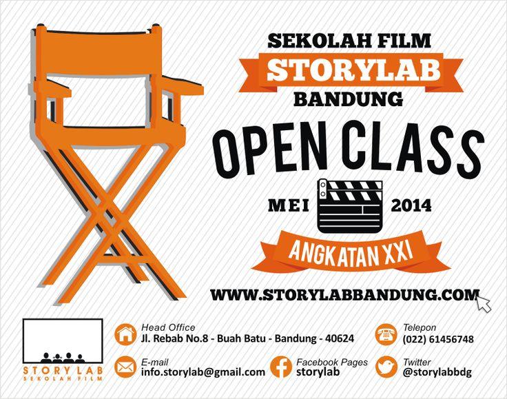 Open Class Story Lab Sekolah Film - Bandung