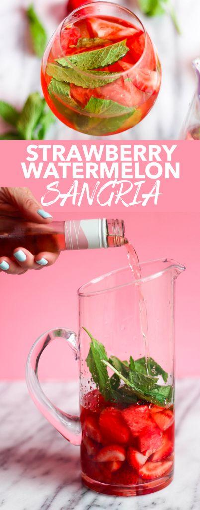 Strawberry Watermelon Sangria | the blissful balance