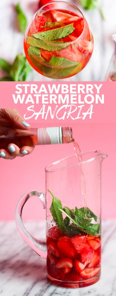 Strawberry Watermelon Sangria | the blissful balance