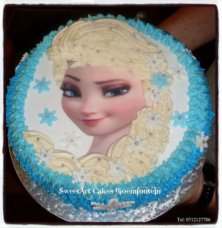 Disney Frozen Elsa Cake For more info & orders, email sweetartbfn@gmail.com or call 0712127786