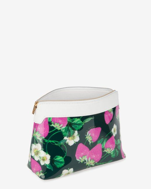 Large strawberries and cream wash bag - White | Gifts for Her | Ted Baker