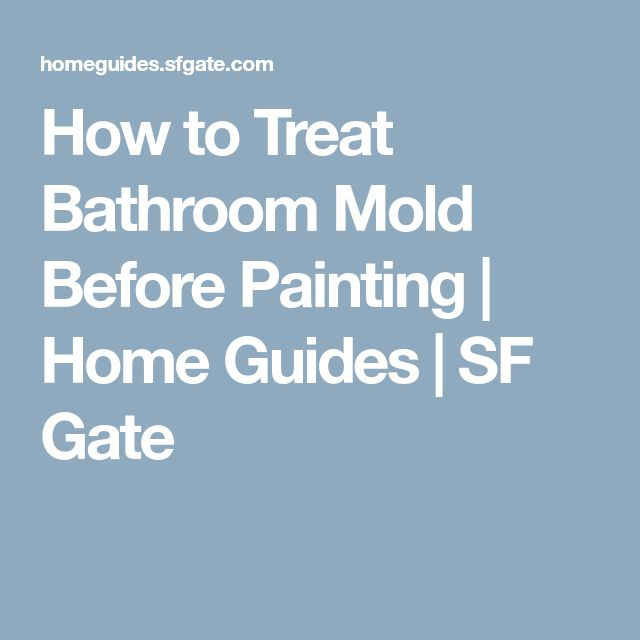 How to Treat Bathroom Mold Before Painting   Home Guides   SF Gate