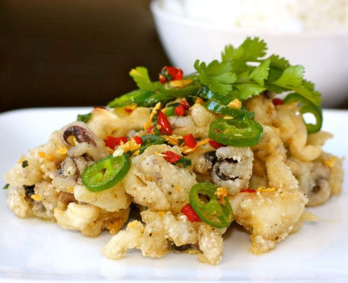 """Most Chinese restaurants often have """"salt and pepper"""" items on the menu. Pork chops, shrimp, cubes of tofu, chicken wings, or squid are usually battered and deep-fried and served with …"""