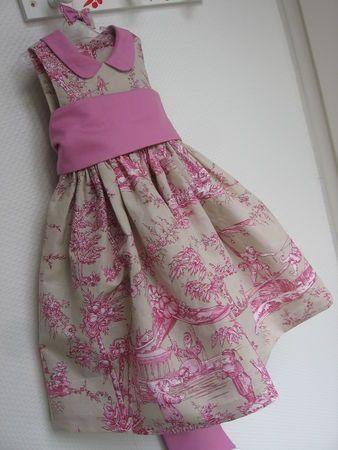 Cortège Gabrielle: robe en toile de Jouÿ