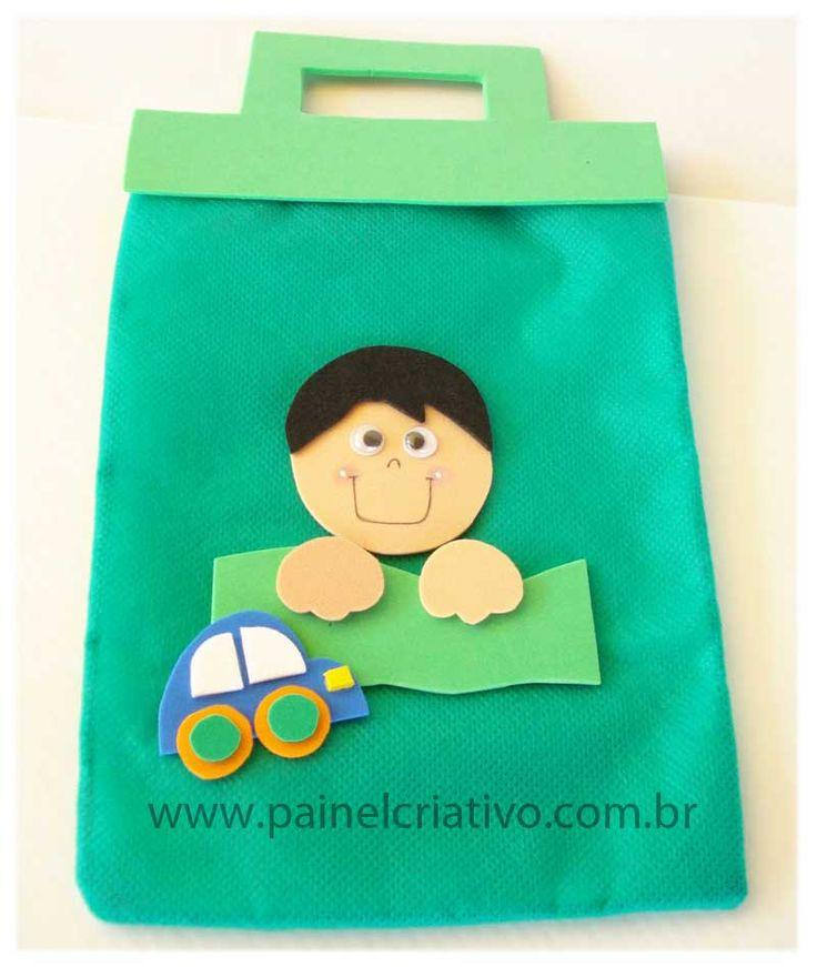 Riscos e Desenhos |  Porta guloseimas de TNT e de EVA para o Dia das Crianças