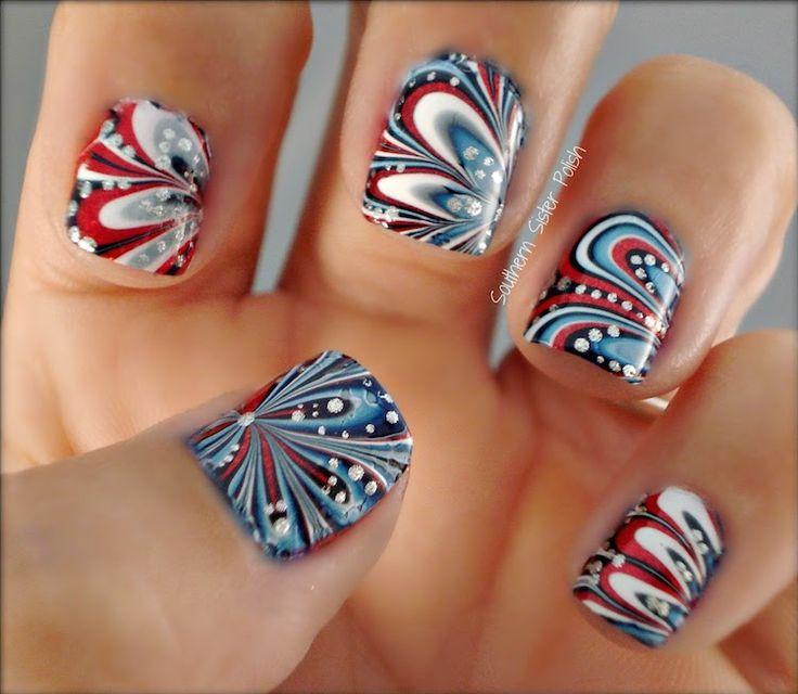 Patriotic Nails - Fourth of July Nail Art #DIY #4thofjuly