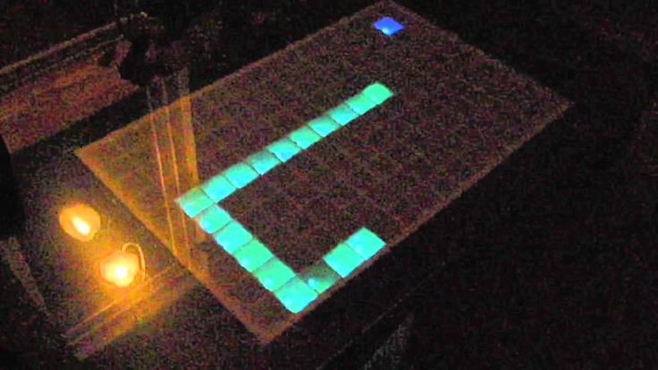 Arduino LED table demo and pict.