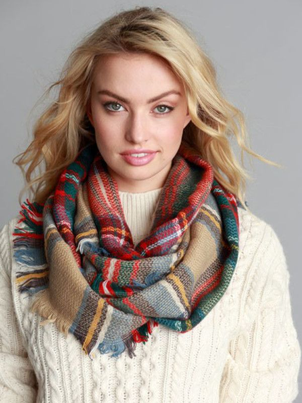 Simply Classic Plaid Infinity Scarf