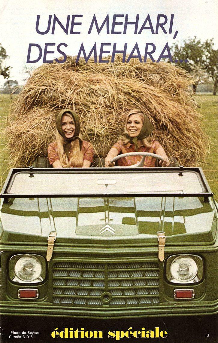 Oude advertenties voor de Citroën Mehari.