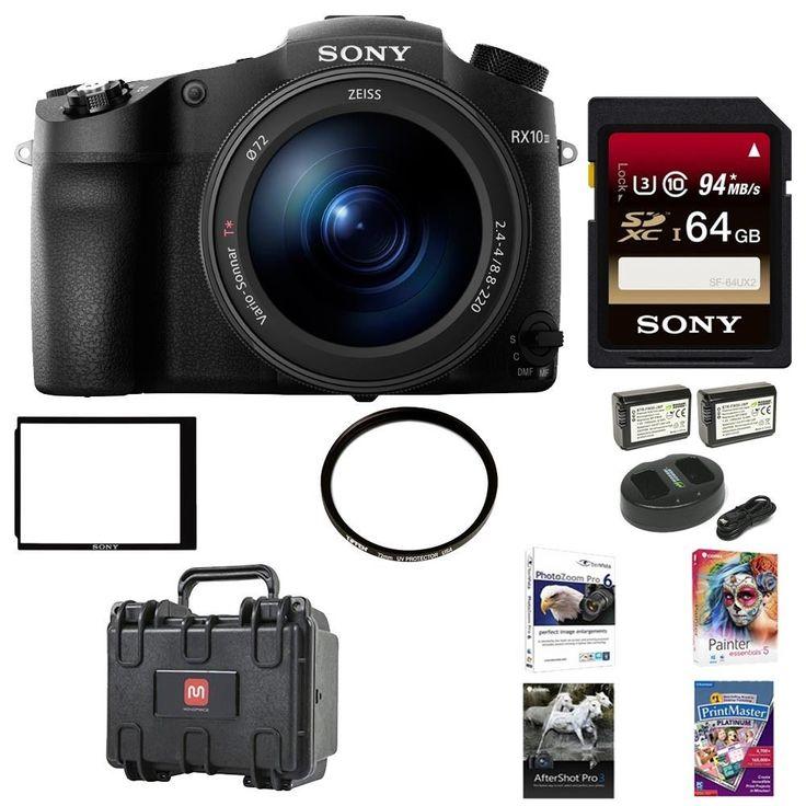 Sony DSC-RX10 III Cyber-shot Digital Still Camera  64GB Accessory Kit