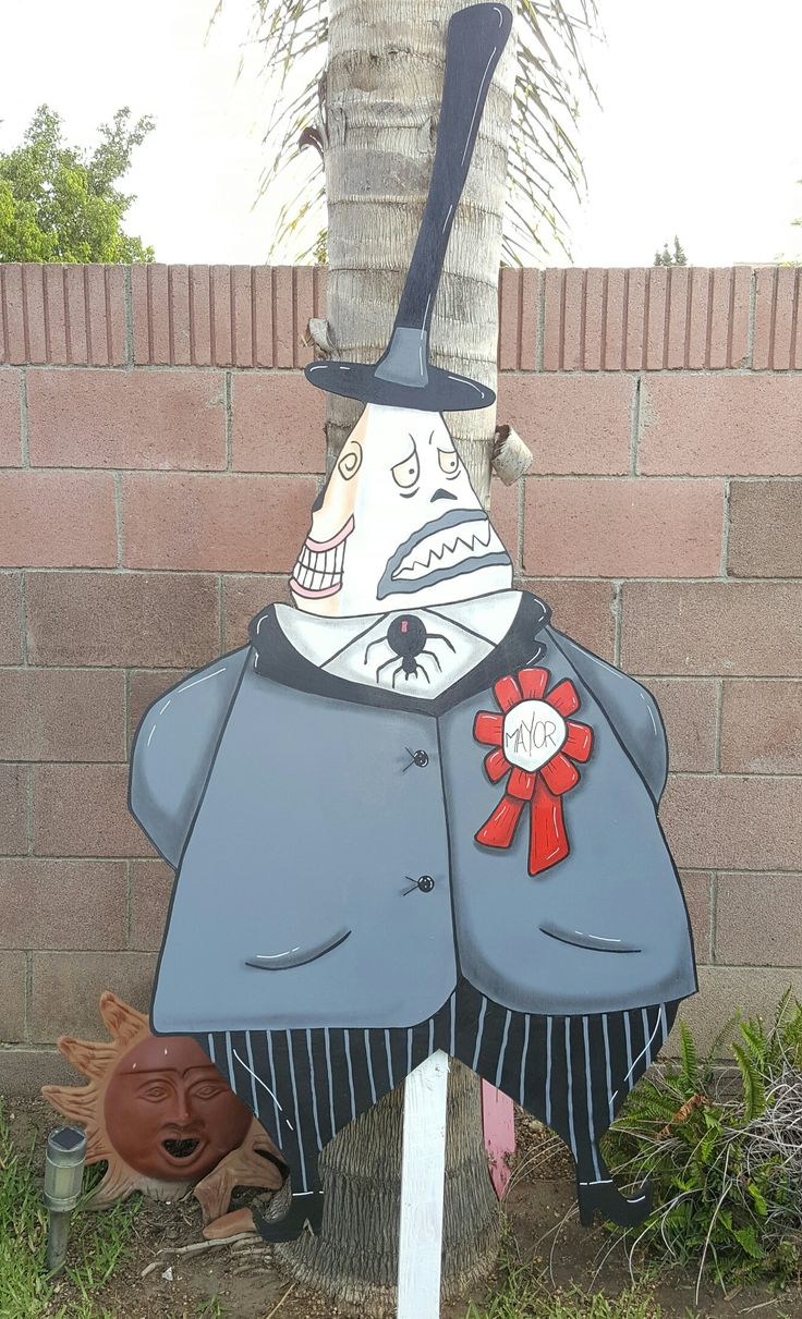 Nightmare before Christmas Mayor lawn sign