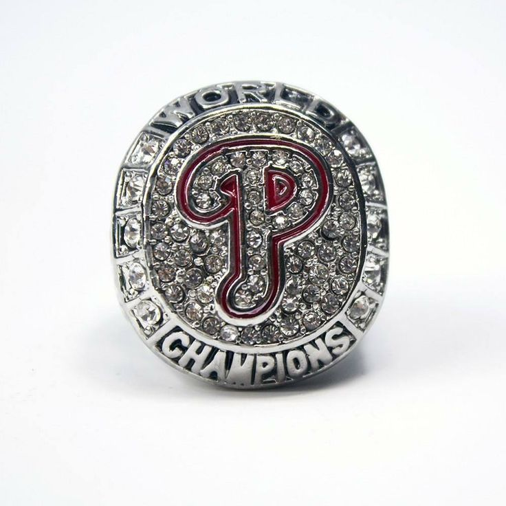 Philadelphia Phillies 2008 World Series Solid Championship Ring - Replica  USD 28.99. #Philadelphia #Phillies #MLB #WorldSeries #SportsRings #Beautiful #Swag #Instalike #Instalove #Championship #GemsandTrinkets