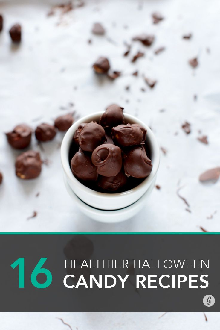 16 Healthier Halloween Candy Recipes to Make at Home #healthy #halloween #candy #recipes