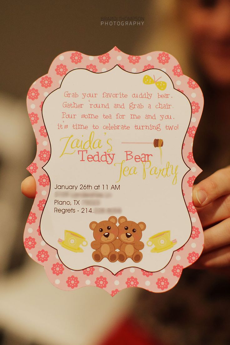 21 best Kids Party: Teddy Bear Tea Party images on Pinterest ...