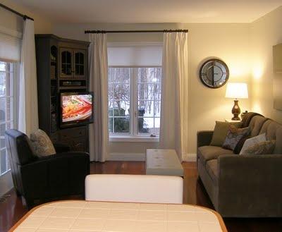 Corner tv cabinet living room home living space for Living room corner tv ideas