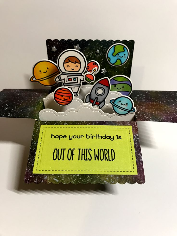 Lawn Fawn scalloped box card pop-up and out of this world. By Apearl B