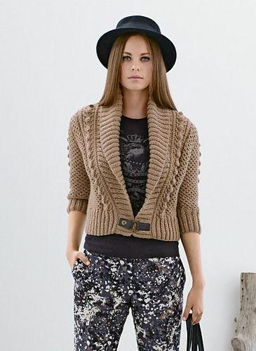 Ravelry: 714 - Short Shawl Collar Jacket pattern by Bergère de France