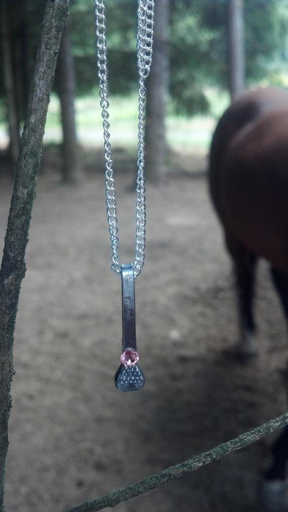 Genuine Horseshoe Nail and Swarovski Crystal by 4FendersFarm, $10.00