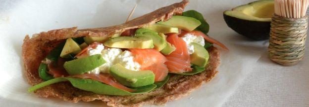 Zelfgemaakte wraps van speltmeel voor één persoon ♥ Foodness - good food, top products, great health