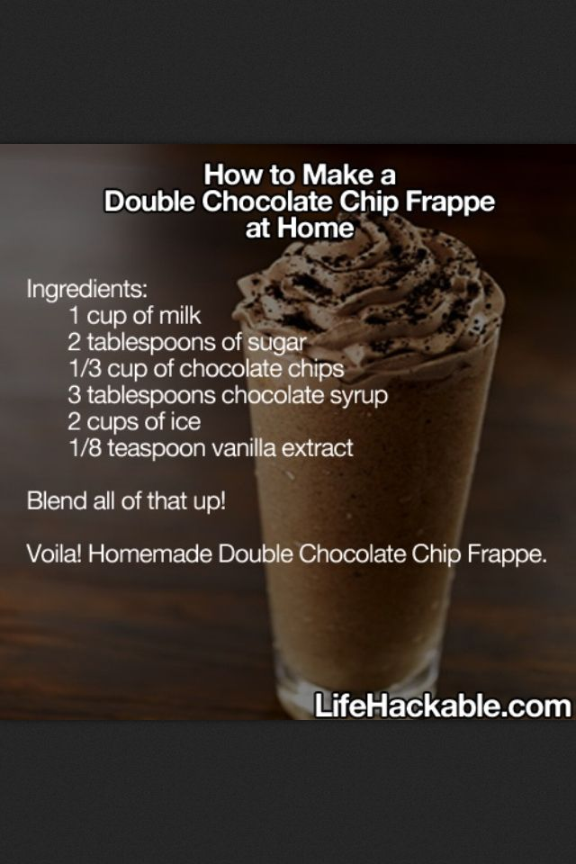 Copycat Starbucks Double Chocolate Chip Frappuccino                                                                                                                                                      More
