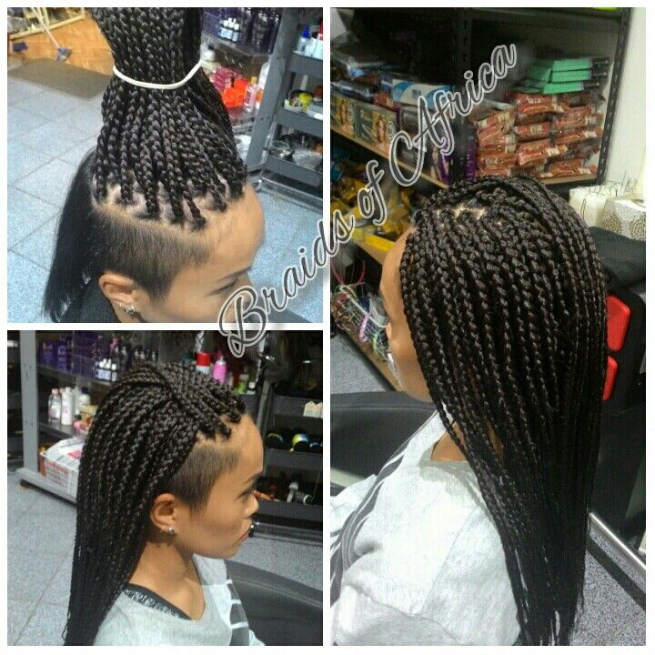 Box Braids Hair Extensions With Shaved Sides My Fave Looks Pinte
