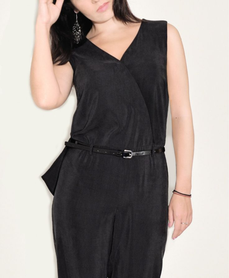 SANTORINI relaxed feminine style jumpsuit is cut from soft cupro and designed with a wrap front and has a dramatic cape-effect back. Cupro is regenerated cellulose fiber derived from cotton linter. Cupro is a hypoallergenic, antistatic fabric that is resistant to stretching out of shape at higher temperatures. #stylatifashion #jumpsuits #trends #2016 #fashion #style #products #дизайнерскиекомбинезоны #стиль #дизайнерскаяодежда #женскаяодежда