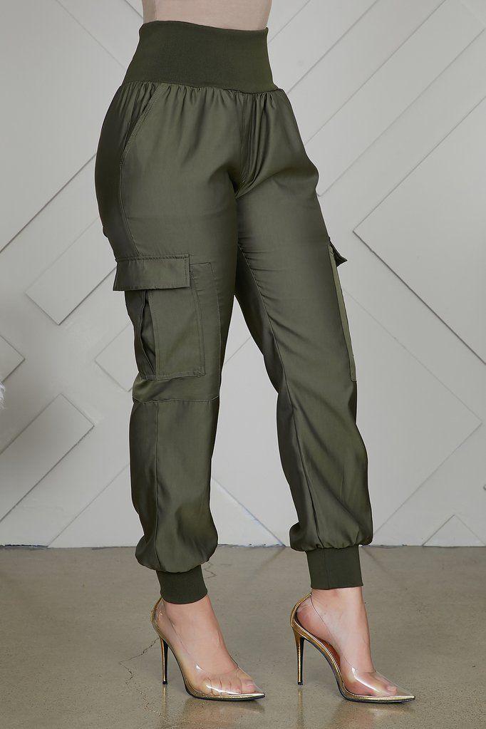 Jogger Pants Olive Pantalones De Moda Pantalones De Vestir Mujer Pantalones De Moda Mujer