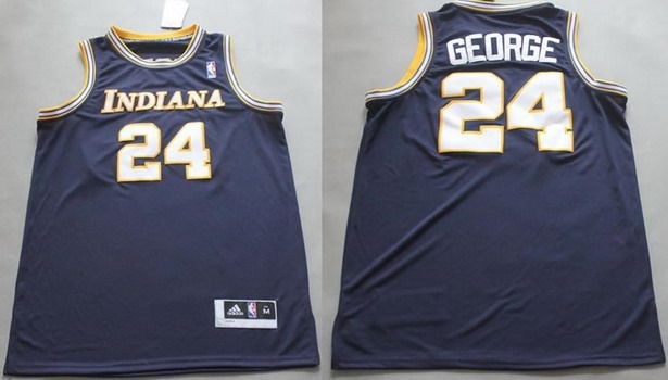 cf1352fea Indiana Pacers 24 Paul George ABA Hardwood Classic Swingman Navy Blue Jersey  NBA .