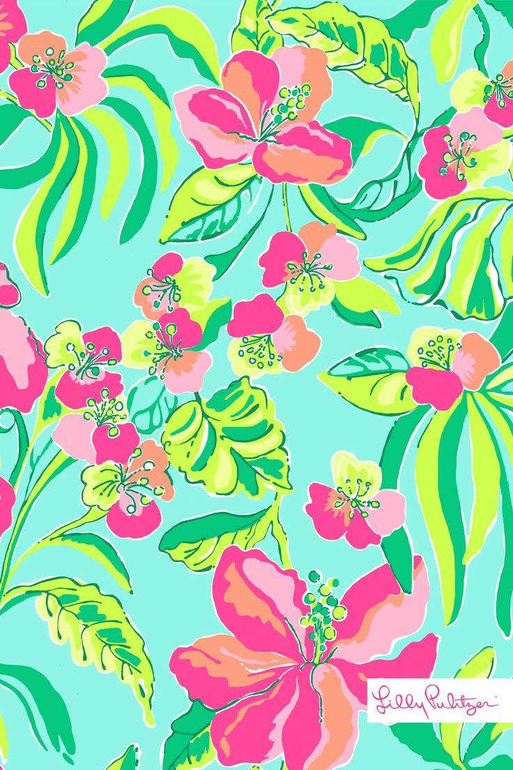 Lilly Pulitzer Island Cocktail wallpaper for iphone