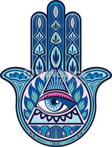 Arte vetorial : Mão de Hamsa
